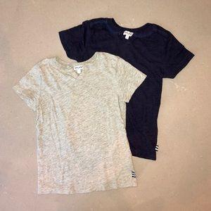 2 Splendid split neck t-shirts